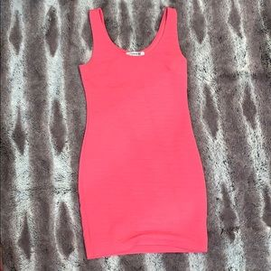 Forever 21 pink body con dress